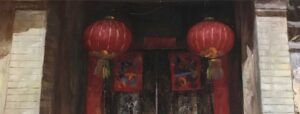 Red Lanterns Door